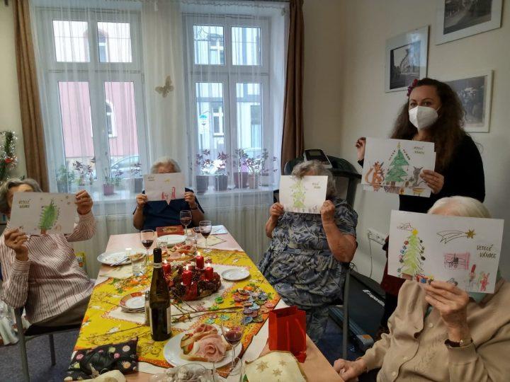 Obrázky od dětí přinesly radost