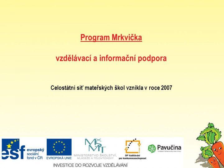 Program Mrkvička